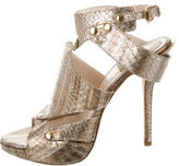 Christian Dior Metallic Snakeskin Sandals