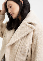 And other stories Cropped Faux Shearling Jacket