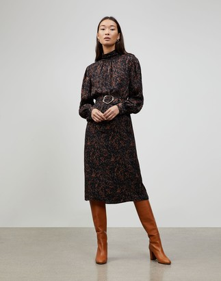 Lafayette 148 New York Petite Marble Jacquard Giana Dress