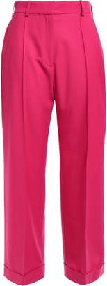 Racil Charlie Cropped Wool-pique Wide-leg Pants