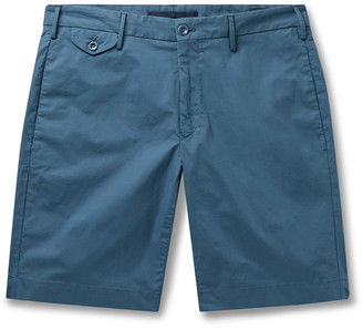 Incotex Stretch-Cotton Poplin Bermuda Shorts