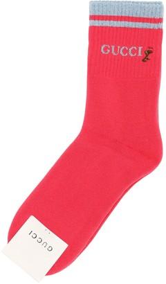Gucci Gg Jacquard Cotton Blend Tennis Socks
