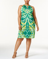 INC International Concepts Plus Size Printed Halter Dress, Created for Macy's