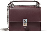 Fendi Kan I Mini Leather Shoulder Bag - Burgundy
