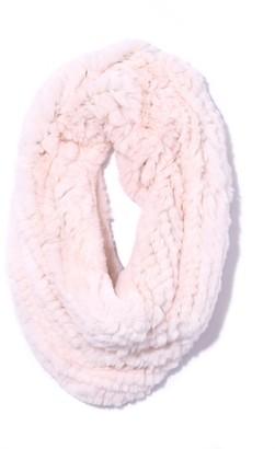 Yves Salomon Rex Rabbit Snood in Crystal Pink