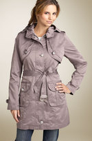 Metallic City Parka with Removable Liner