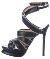 Clements Ribeiro Zipper-Accented Platform Sandals