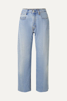 E.L.V. Denim + Net Sustain The Twin Boyfriend High-rise Straight-leg Jeans - Light denim