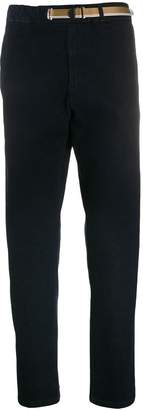 White Sand elasticated straight-leg jeans