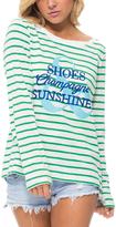 Macbeth Green & White 'Shoes Champagne Sunshine' Long-Sleeve Tee