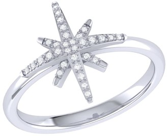 Lmj North Star Ring In Sterling Silver