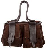 Hogan Leather-Accented Satchel
