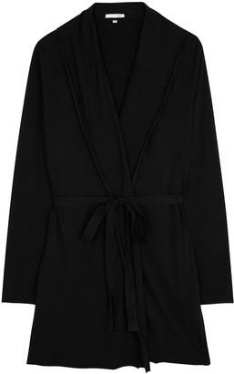Skin Black Pima Cotton Robe