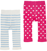 Joules Baby Lively Footless Leggings, Pack of 2, Pink