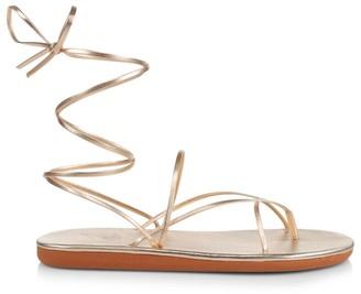 Ancient Greek Sandals Wraparound Ankle-Strap Flatform Sandals