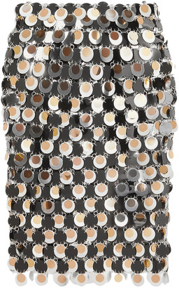 Paco Rabanne Sequin-embellished Chainmail Skirt