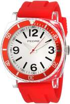 Pedre Men's 0115CRX Sport Red Rubber Strap Watch
