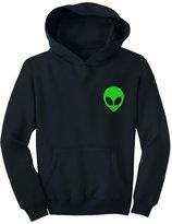 TeeStars - Neon Green Alien Head - Cute Alien Face Print UFO Youth Hoodie