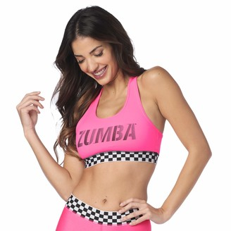 Zumba Fitness Zumba Women's Standard Athletic Dance Fitness High Impact Workout Active Sports Bra