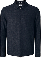 Libertine-libertine Tell Chart Melton Bomber Jacket, Dark Navy