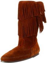 Minnetonka Women's Calf Hi 2-Layer Fringe Boot