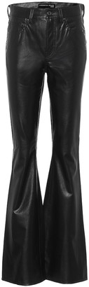 Veronica Beard Beverly high-rise faux leather flared pants