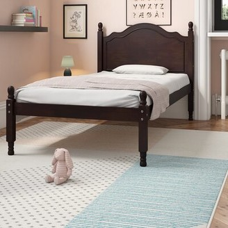 Harriet Bee Forbush Reston Four Poster Standard Bed Size: Twin, Bed Frame Color: White