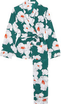 Equipment Odette Floral-print Washed-silk Pajamas - Emerald