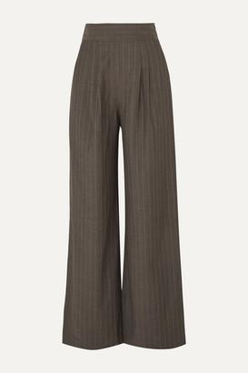 Aaizél aaizel - Pinstriped Wool Wide-leg Pants - Brown