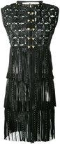 Caban Romantic - long fringed gilet - women - Leather/Polyamide - 40