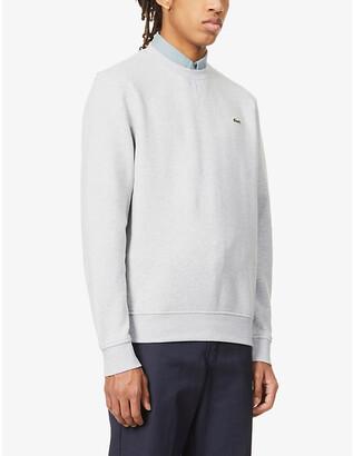 Lacoste Logo-embroidered cotton-blend sweatshirt