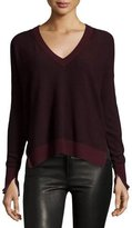 Rag & Bone Taylor Merino Wool V-Neck Sweater, Port