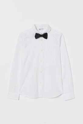 H&M Dress shirt and bow tie