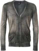 Avant Toi mottled V-neck cardigan