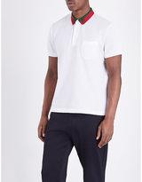 Gucci Bi-colour Collar Stretch-cotton Polo Shirt