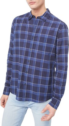 Frame Classic Fit Plaid Button-Up Shirt