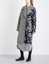 Song For The Mute Floral and houndstooth-pattern woven coat