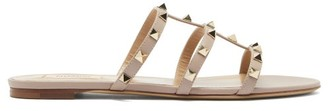 Valentino Rockstud Leather Sandals - Nude