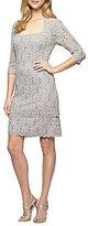 Alex Evenings Petite Lace Shift Dress
