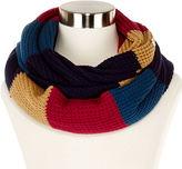 Liz Claiborne Colorblock Thermal Stitch Infinity Scarf