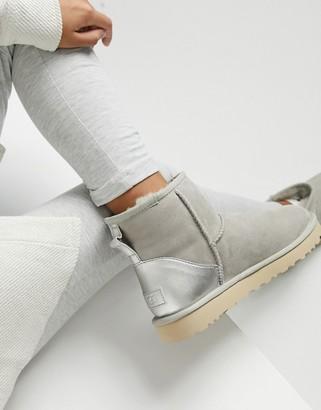 UGG Classic Mini II Metallic ankle boots in goat