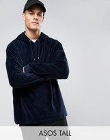 Asos TALL Extreme Oversized Hoodie In Velour