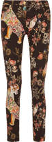 Etro Printed Mid-rise Skinny Jeans - Black