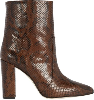 Paris Texas Python Embossed Leather Booties