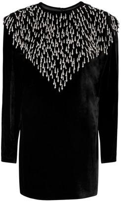 Isabel Marant Gabasi embellished velvet mini dress