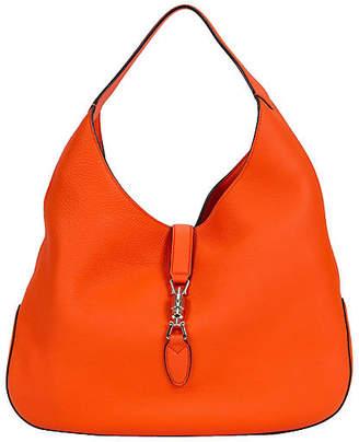One Kings Lane Vintage Gucci Jackie Vibrant Orange Hobo Bag - Vintage Lux