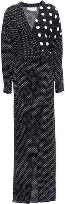 Mason by Michelle Mason Polka-dot Silk Crepe De Chine Maxi Dress