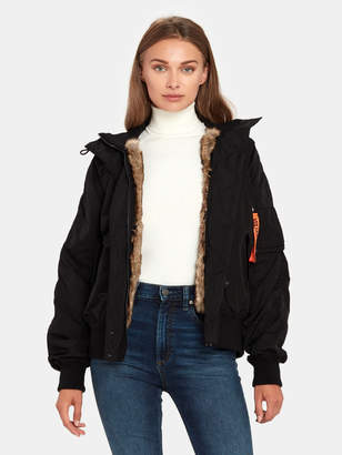Zadig & Voltaire Kite Fur Lined Nylon Bomber Jacket