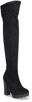 Bamboo Black Gaby Over-the-Knee Boot