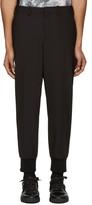 Neil Barrett Black Ribbed Cuffs Trousers